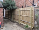 wooden fencing complete