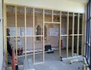 stud partition wall in house