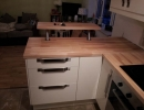 bespoke fitted kitchen raised worktop and drawers
