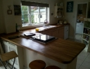 custom kitchen with rounded worktops