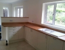 hand made kitchen units and worktop and fitted sink