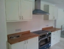 custom build kitchen units to fit new oven and extractor