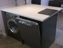 custom built dishwasher and washing machine unit