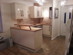 Kitchen fitting by Linnell Carpentry in Kettering
